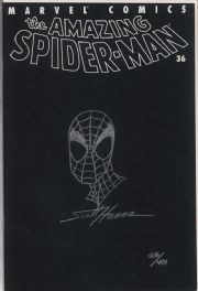 Amazing Spider-man V2 #36 Dynamic Forces Signed Scott Hanna Remarked Sketch DF COA Marvel comic book
